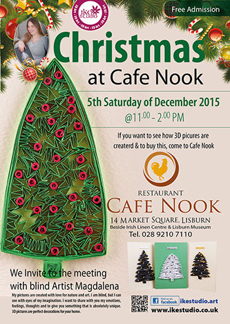 Christmas at cafe nook - 5th Saturday of December 2015